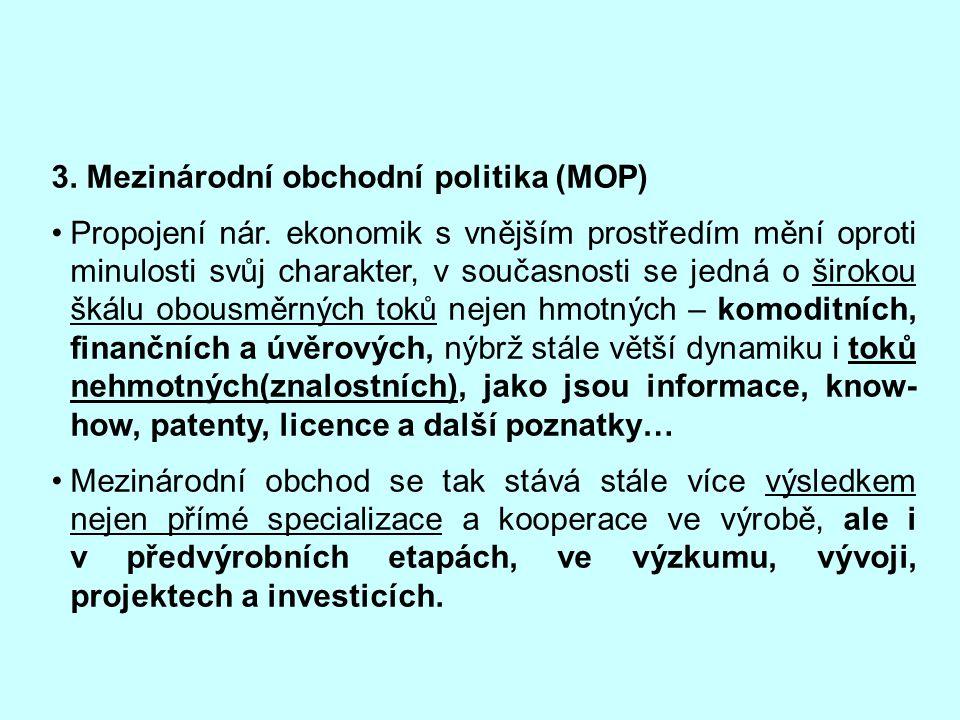 3. Mezinárodní obchodní politika (MOP)
