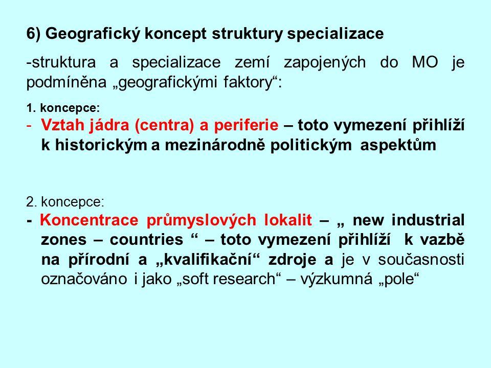 6) Geografický koncept struktury specializace