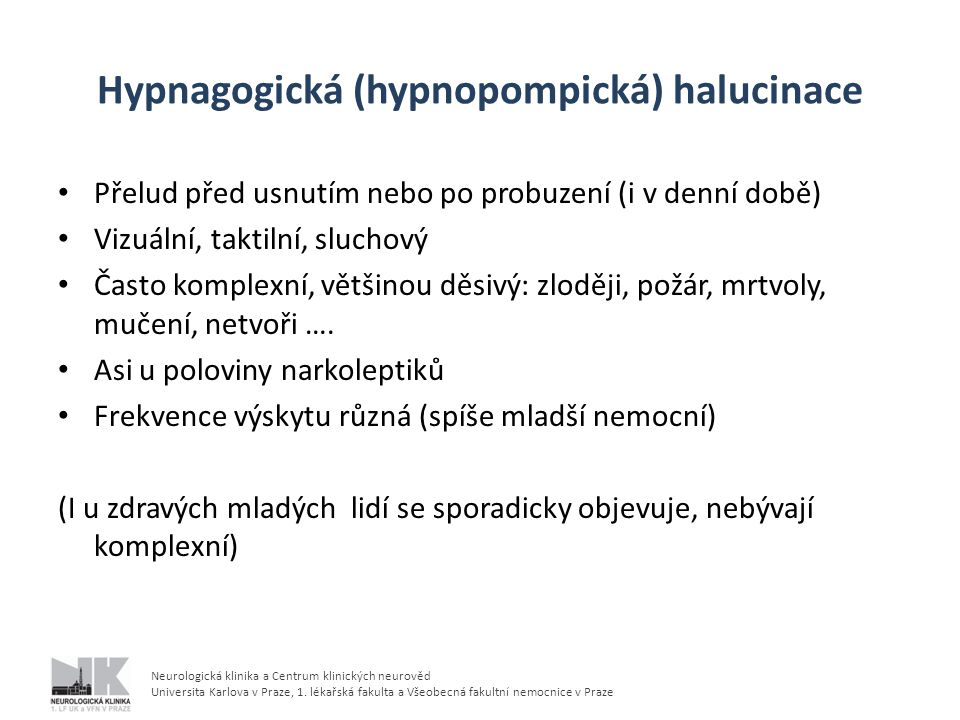 Hypnagogická (hypnopompická) halucinace