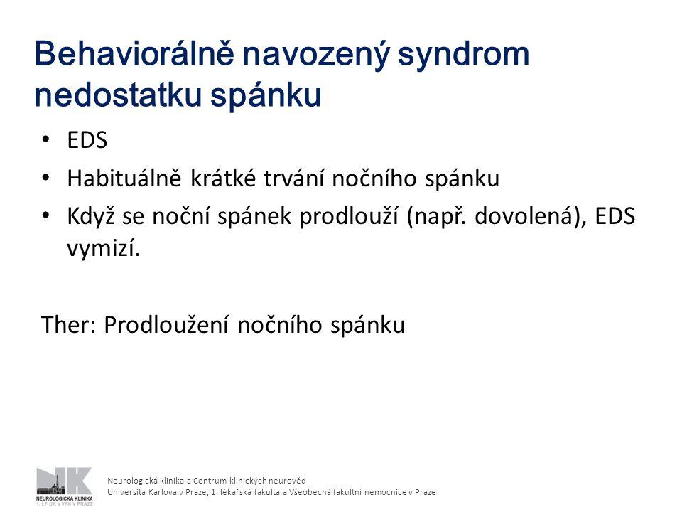 Behaviorálně navozený syndrom nedostatku spánku
