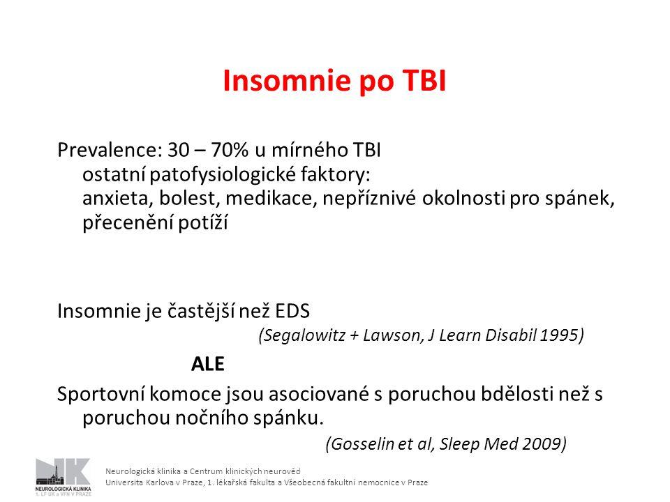 Insomnie po TBI