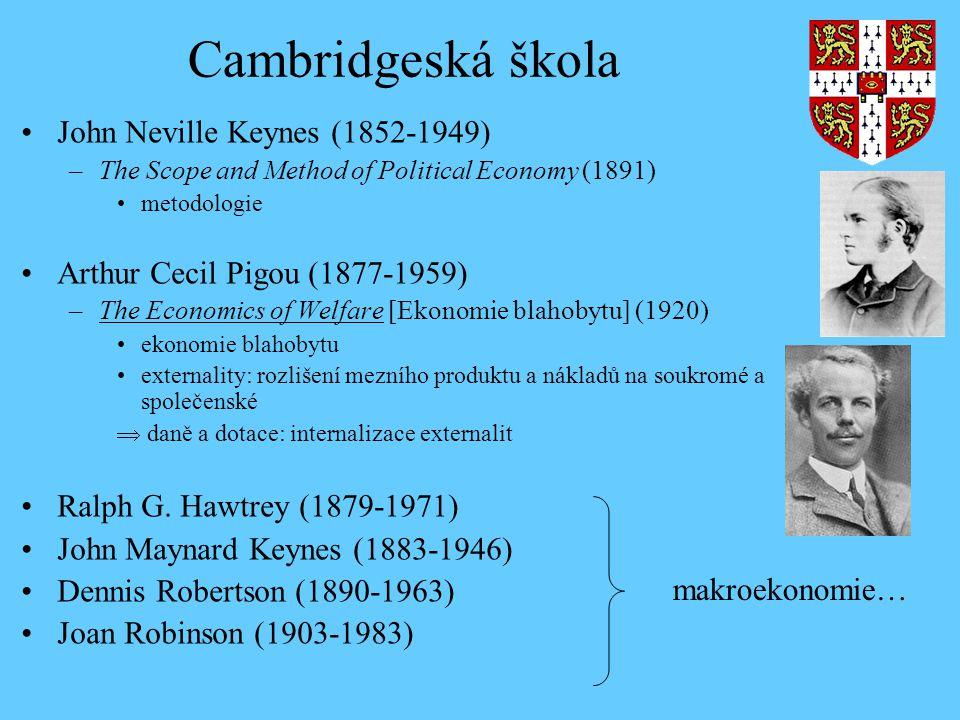 Cambridgeská škola John Neville Keynes (1852-1949)