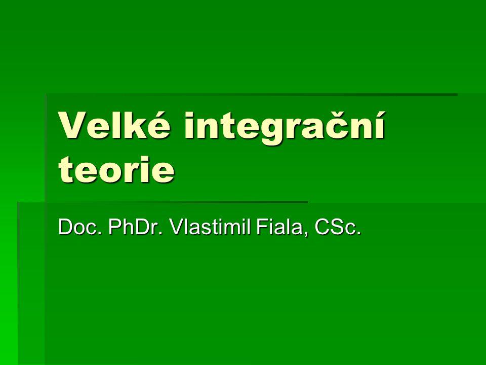Velké integrační teorie