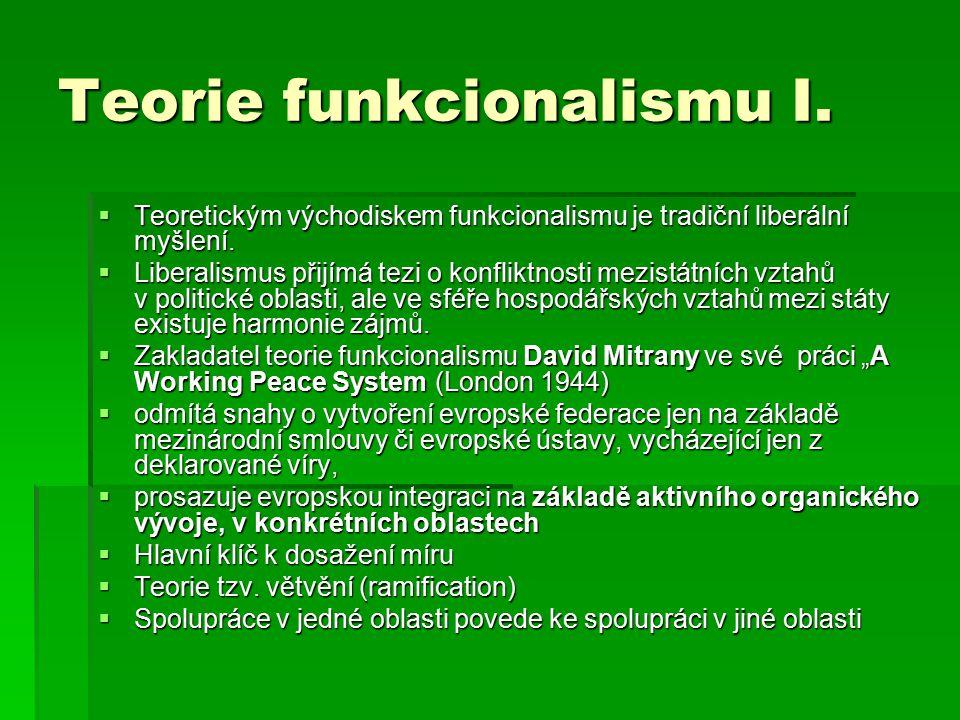 Teorie funkcionalismu I.