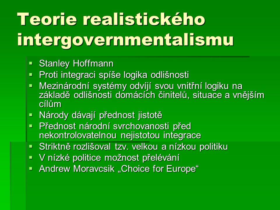 Teorie realistického intergovernmentalismu