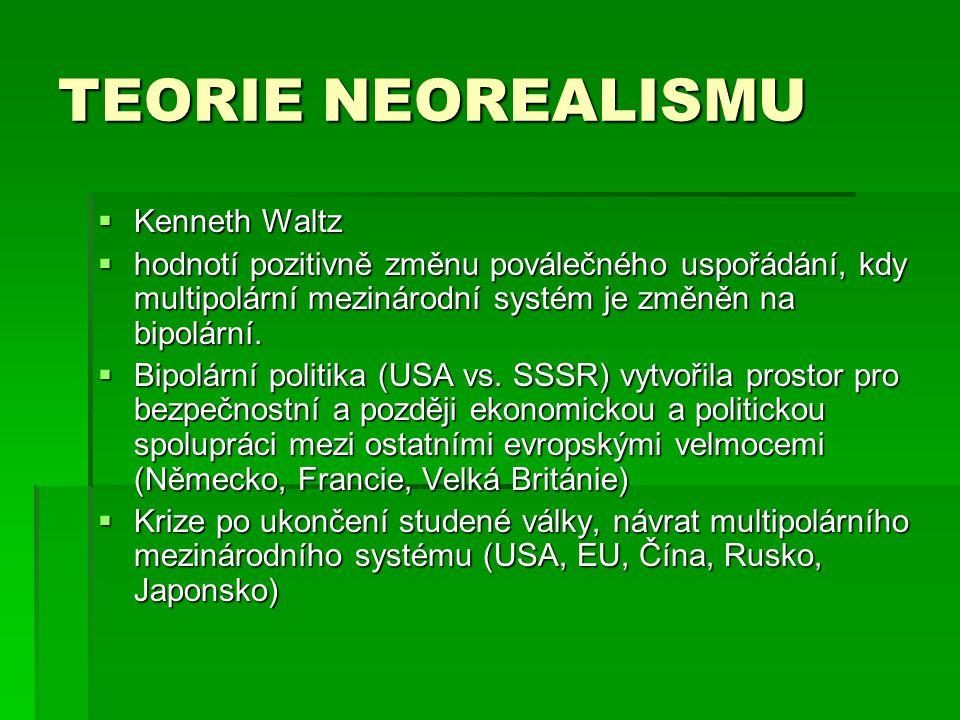 TEORIE NEOREALISMU Kenneth Waltz