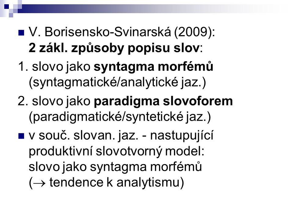 V. Borisensko-Svinarská (2009): 2 zákl. způsoby popisu slov:
