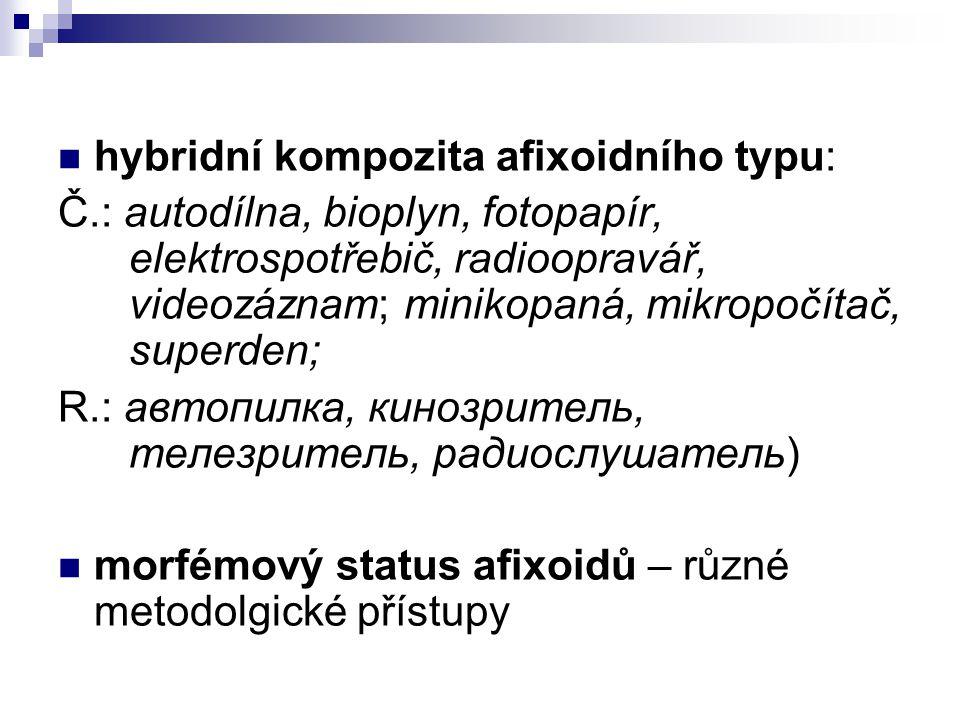 hybridní kompozita afixoidního typu: