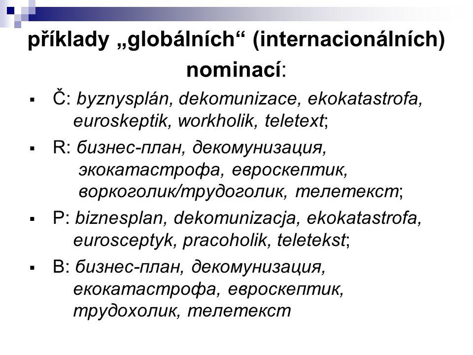 """příklady """"globálních (internacionálních) nominací:"""