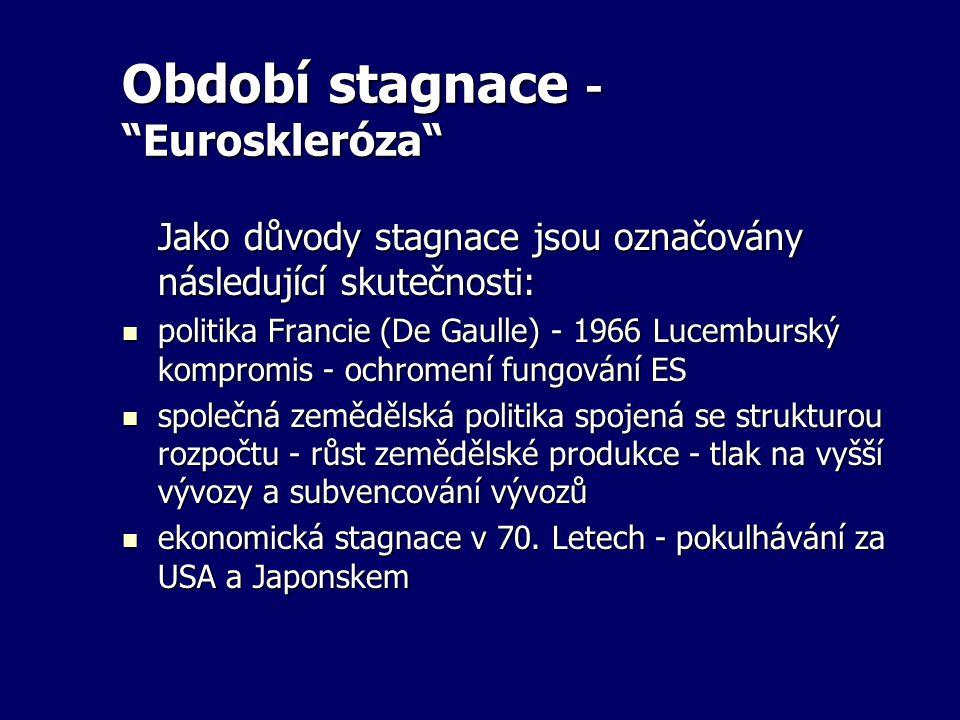 Období stagnace - Euroskleróza