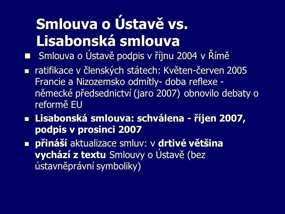 Smlouva o Ústavě vs. Lisabonská smlouva