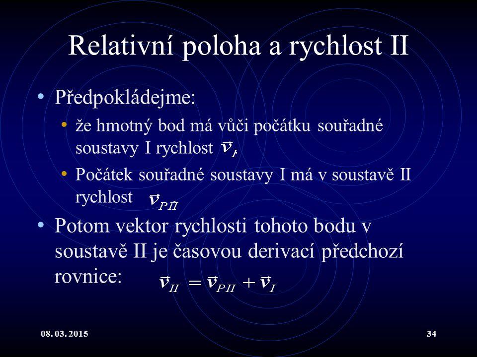 Relativní poloha a rychlost II