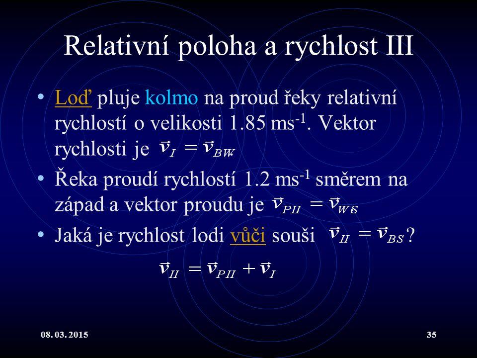 Relativní poloha a rychlost III