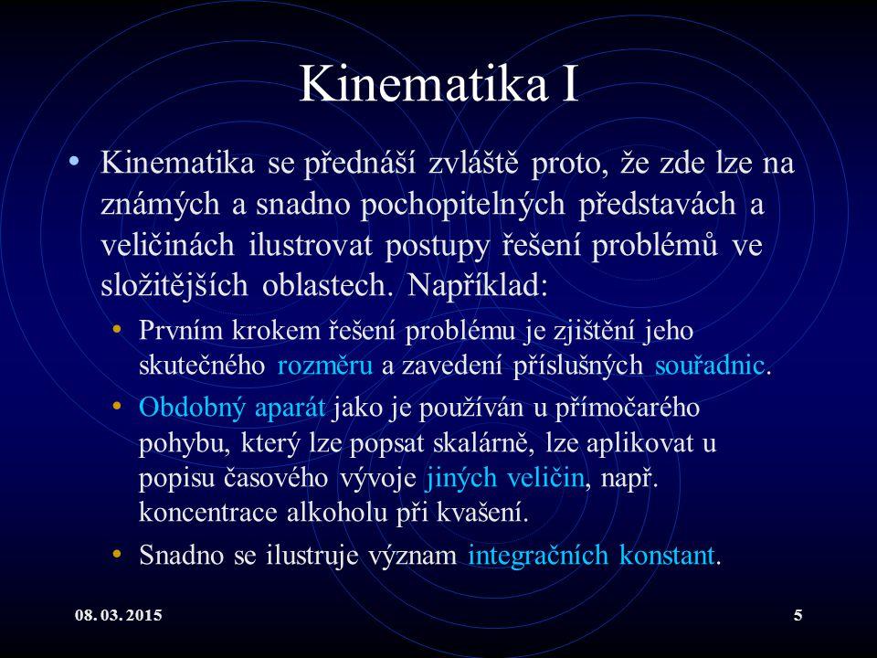 Kinematika I