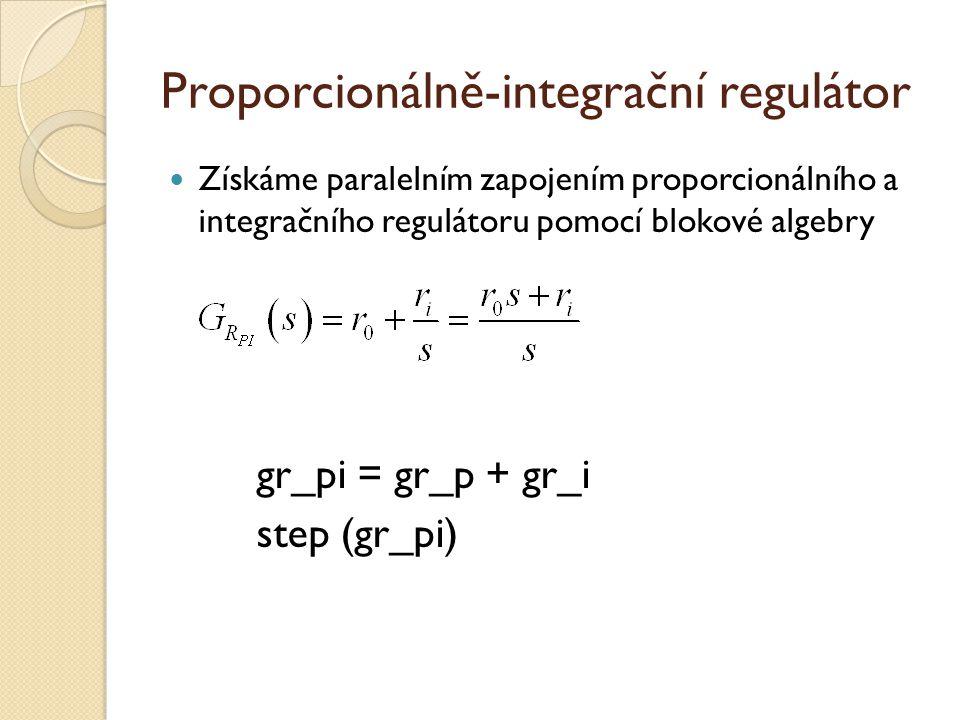 Proporcionálně-integrační regulátor