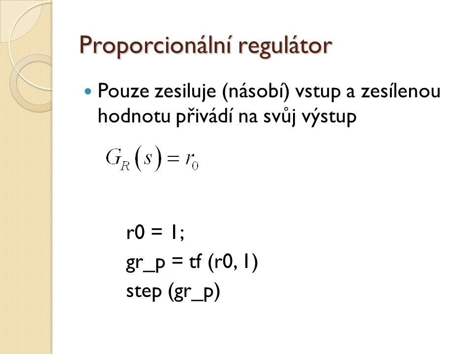 Proporcionální regulátor