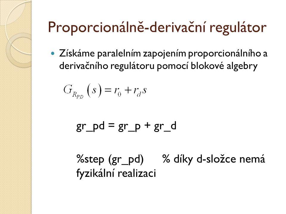 Proporcionálně-derivační regulátor