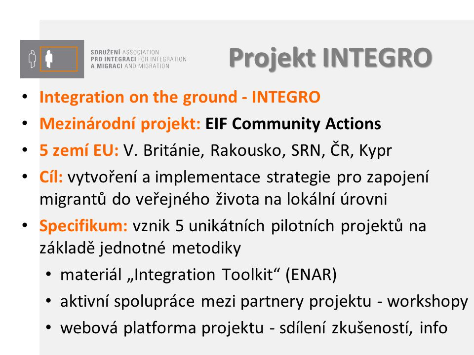 Projekt INTEGRO Integration on the ground - INTEGRO