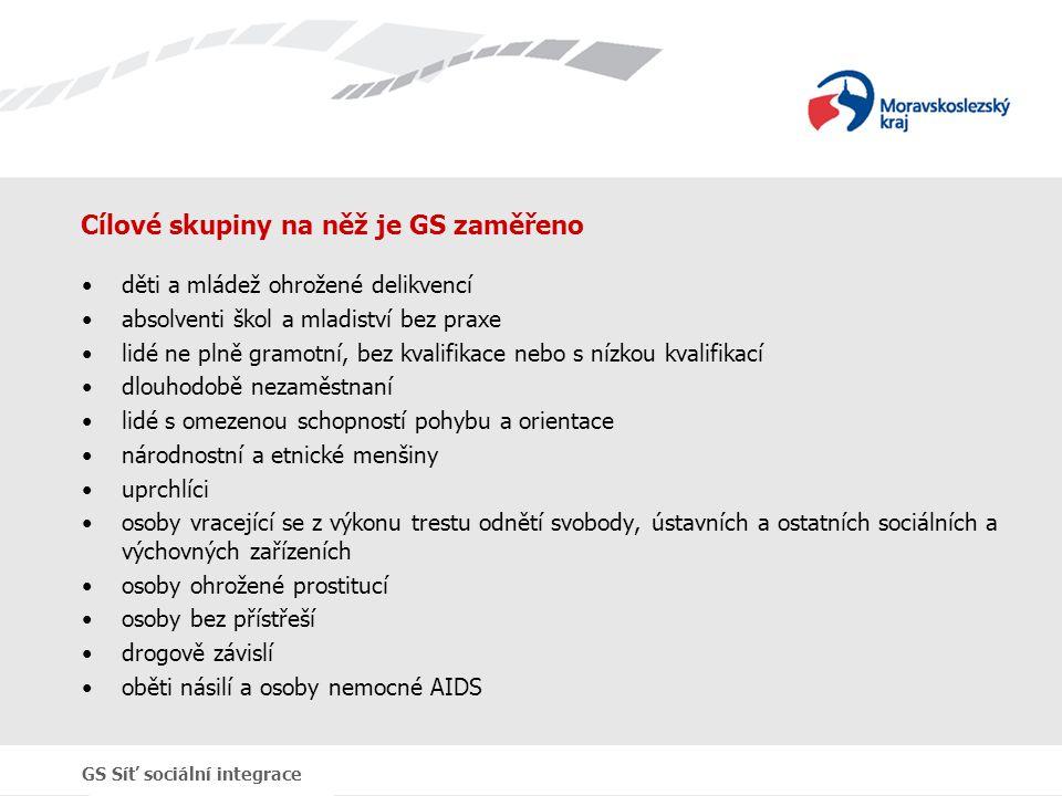 Cílové skupiny na něž je GS zaměřeno