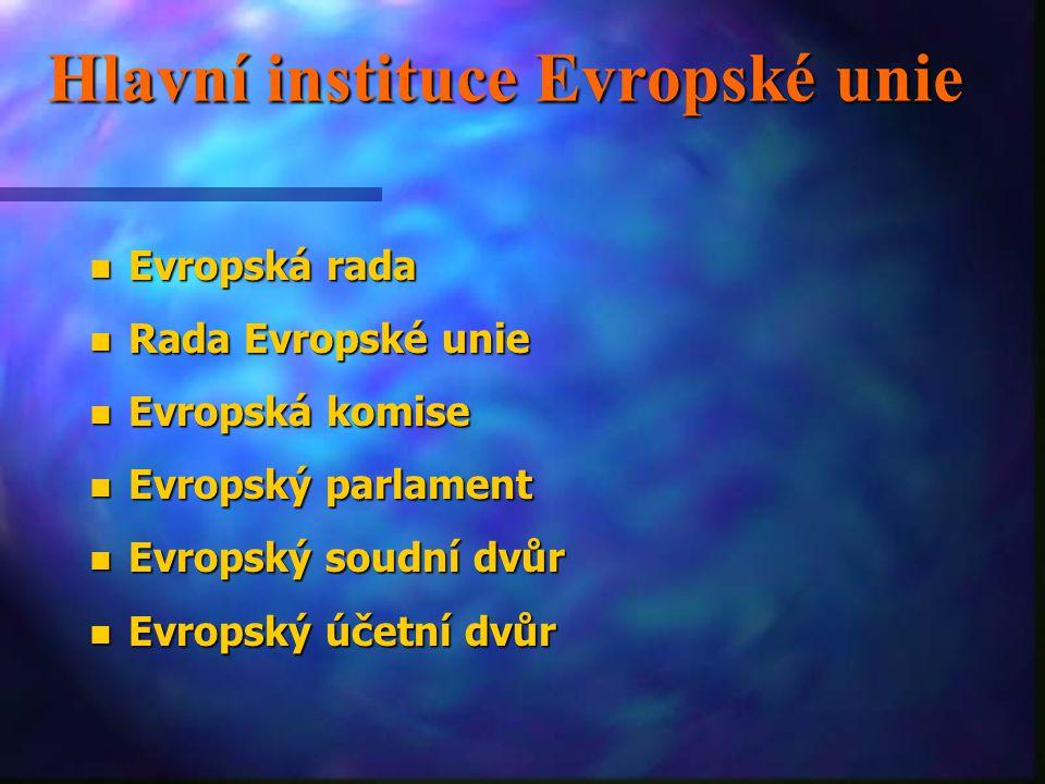 Hlavní instituce Evropské unie