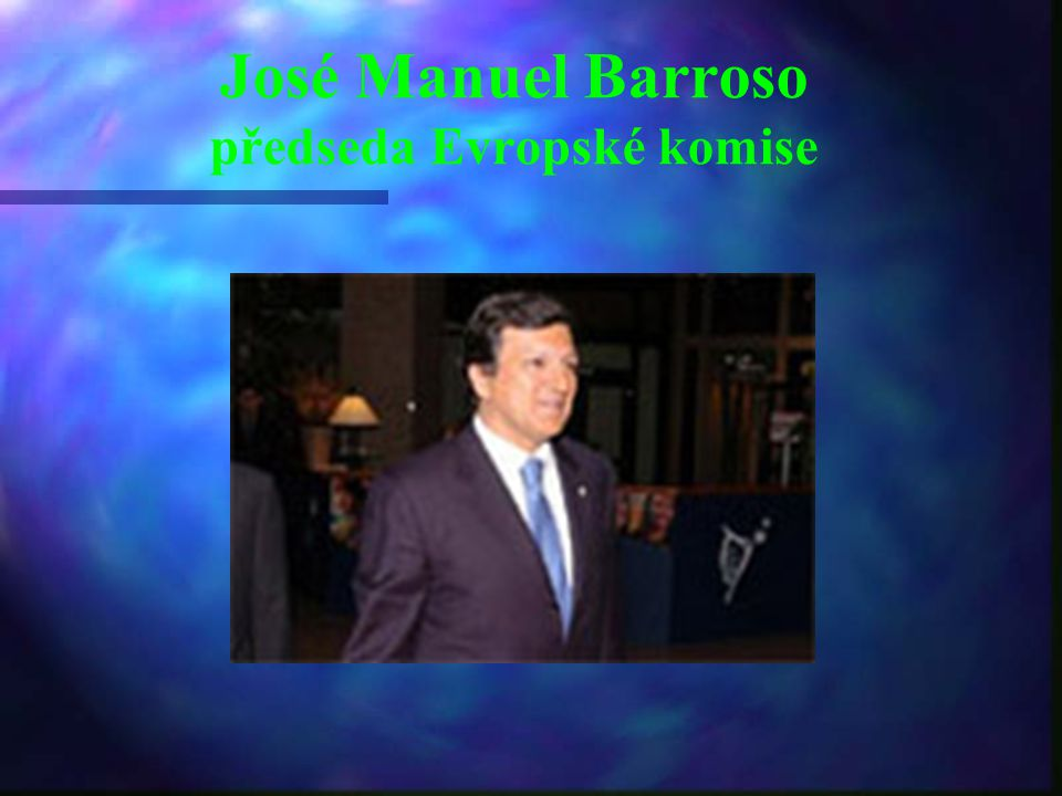 José Manuel Barroso předseda Evropské komise
