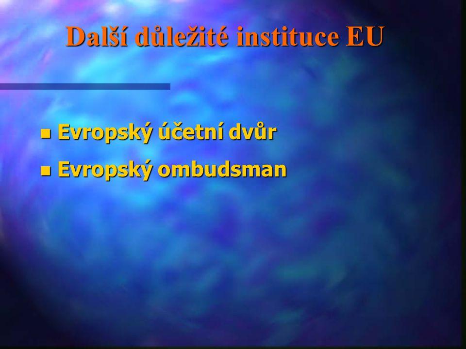 Další důležité instituce EU