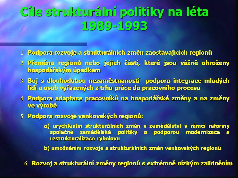 Cíle strukturální politiky na léta 1989-1993