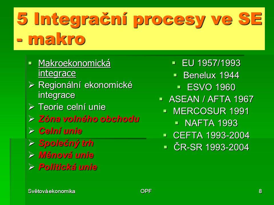 5 Integrační procesy ve SE - makro