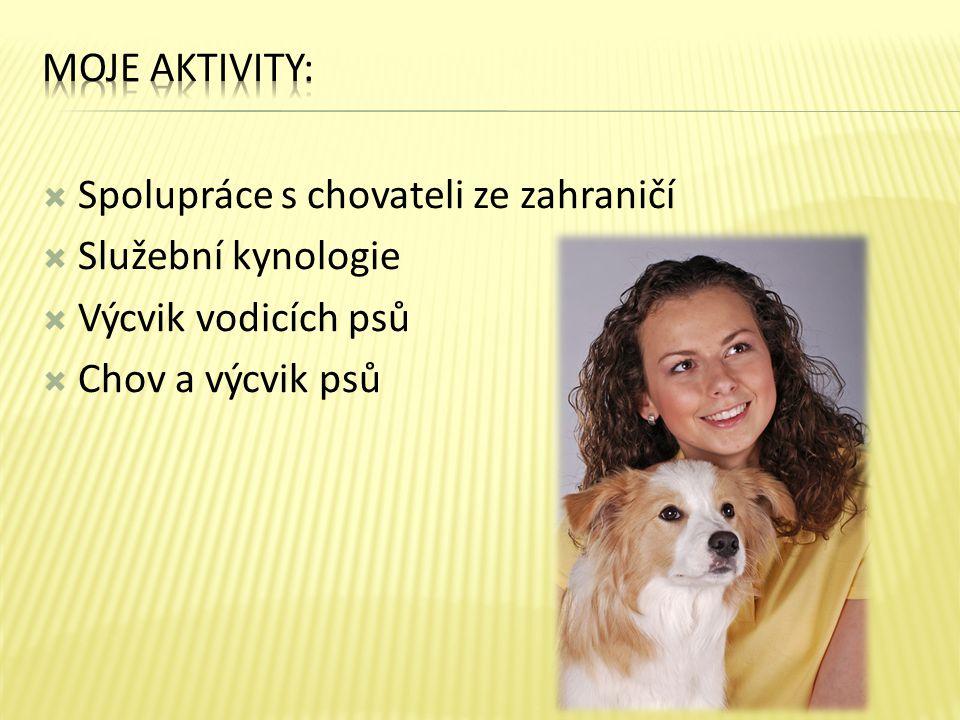 Moje aktivity: Spolupráce s chovateli ze zahraničí.