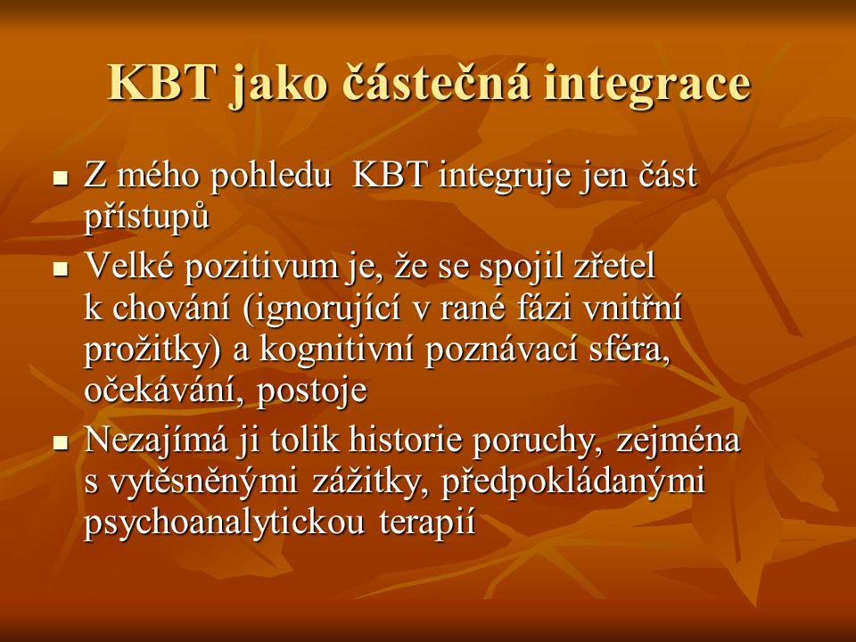 KBT jako částečná integrace