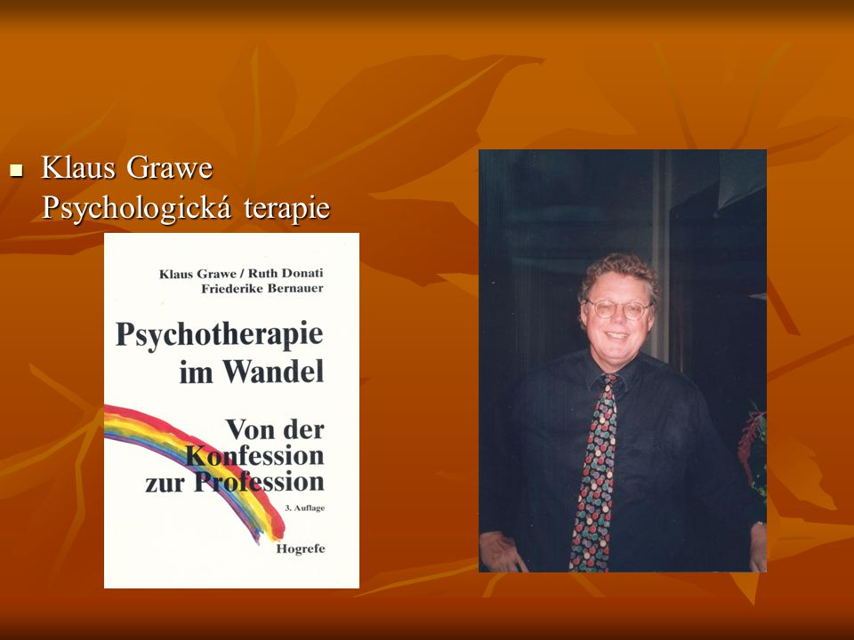 Klaus Grawe Psychologická terapie