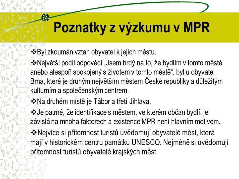 Poznatky z výzkumu v MPR