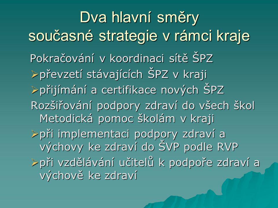 Dva hlavní směry současné strategie v rámci kraje