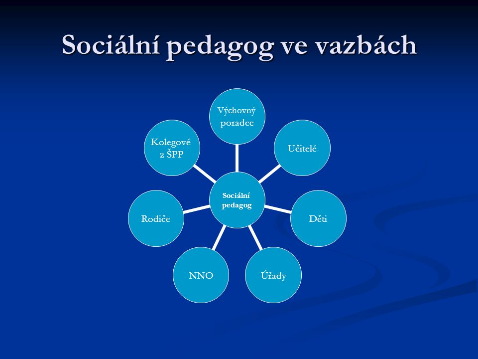 Sociální pedagog ve vazbách