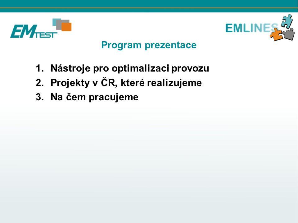 Program prezentace Nástroje pro optimalizaci provozu.