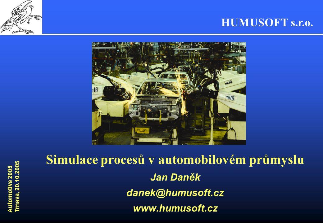 Simulace procesů v automobilovém průmyslu