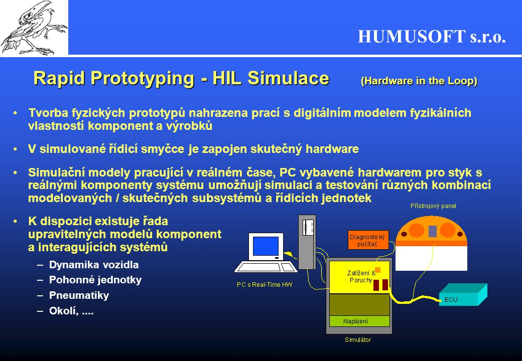 Rapid Prototyping - HIL Simulace (Hardware in the Loop)
