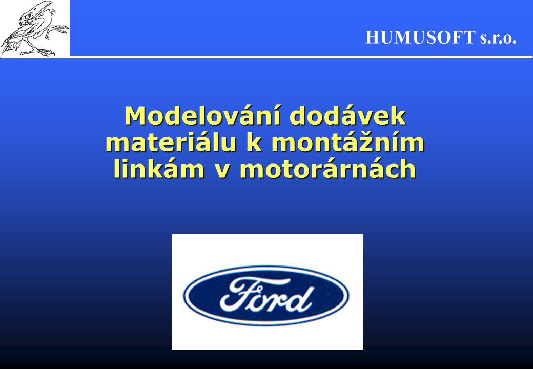 Modelování dodávek materiálu k montážním linkám v motorárnách
