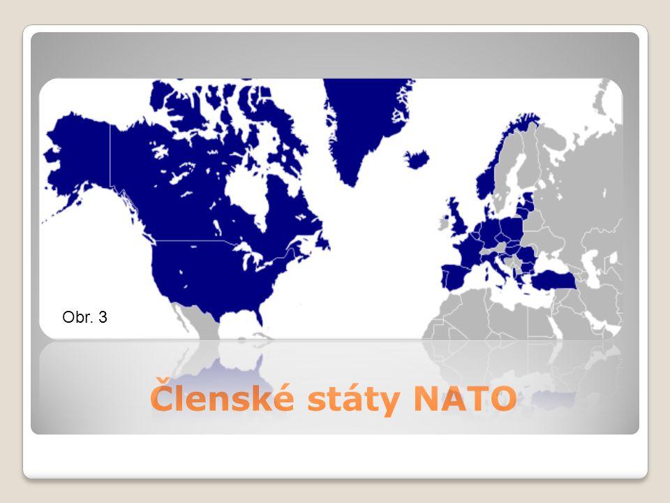 Obr. 3 Členské státy NATO