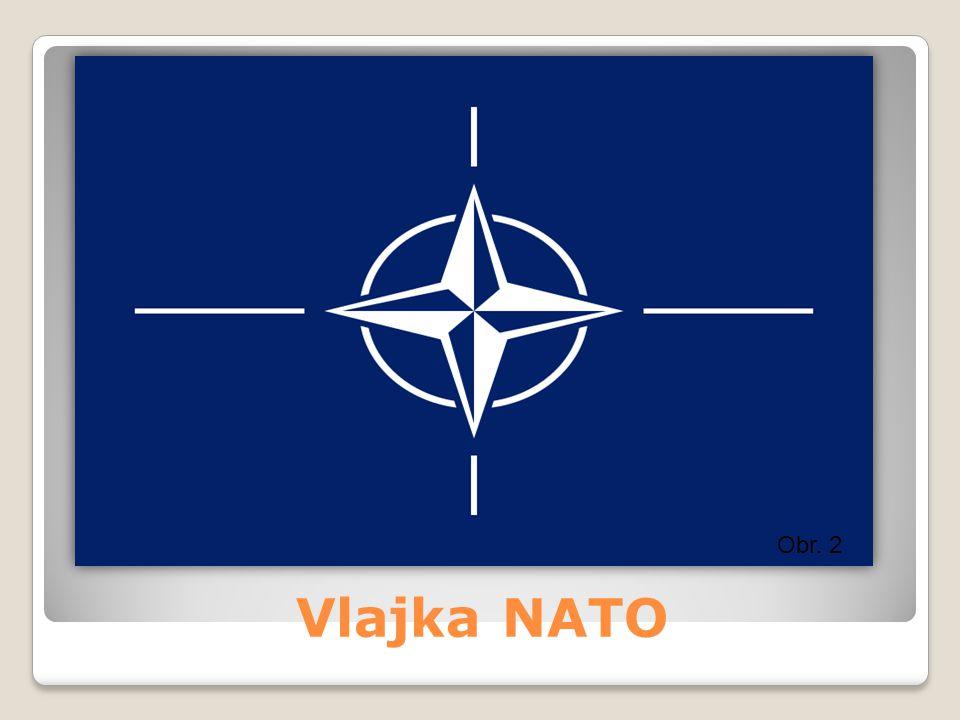 Obr. 2 Vlajka NATO