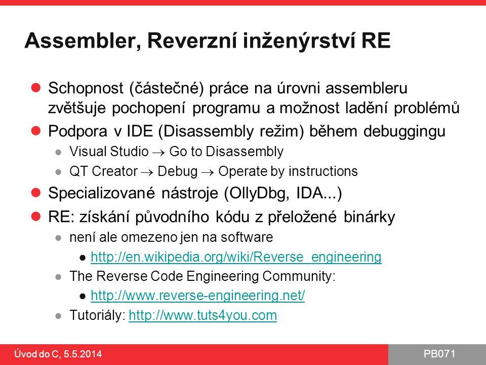 Assembler, Reverzní inženýrství RE