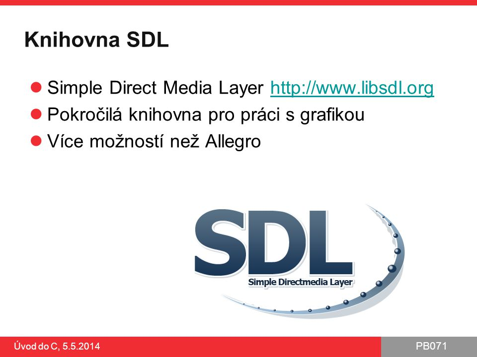 Knihovna SDL Simple Direct Media Layer http://www.libsdl.org