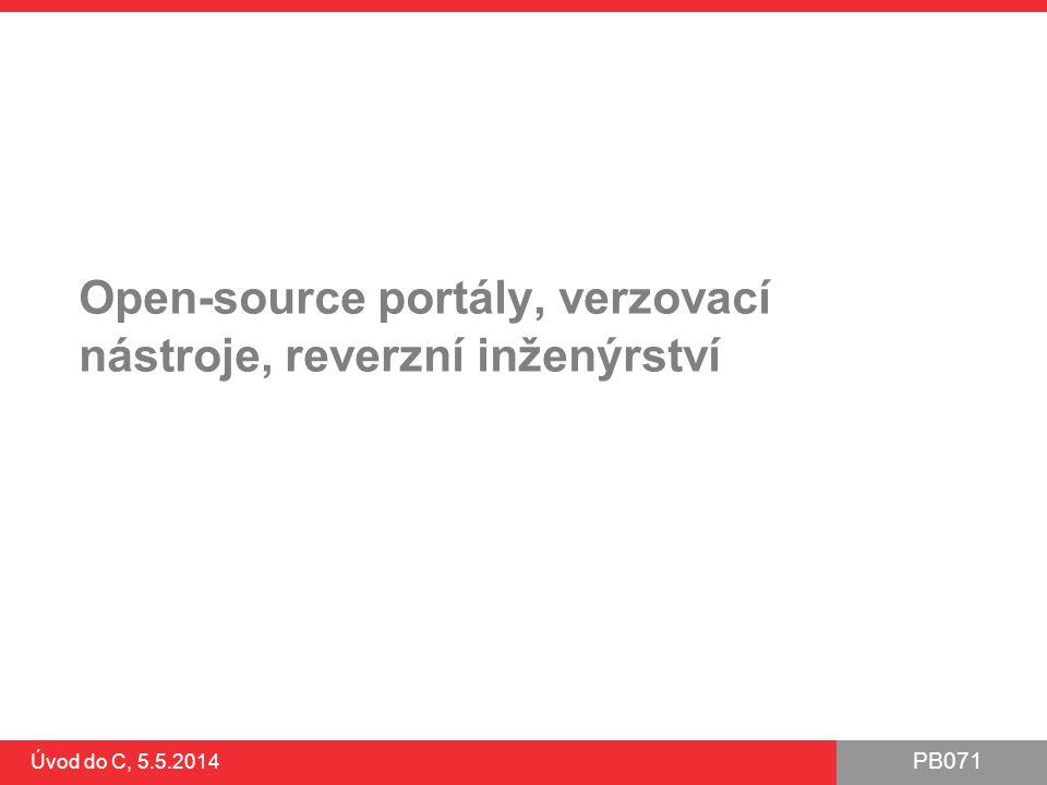 Open-source portály, verzovací nástroje, reverzní inženýrství