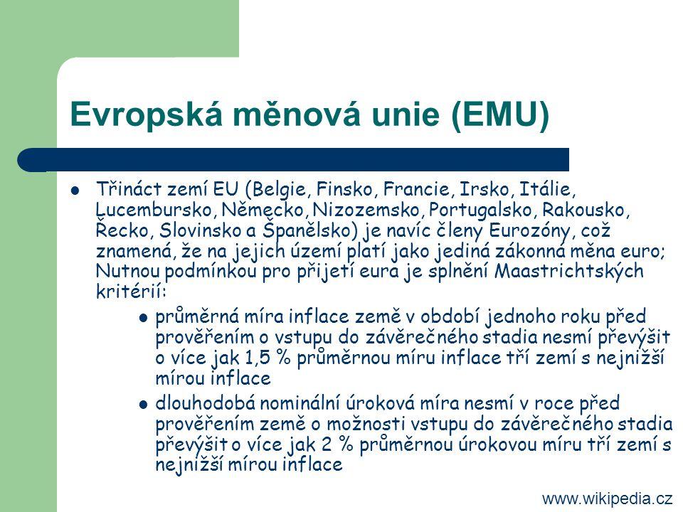 Evropská měnová unie (EMU)