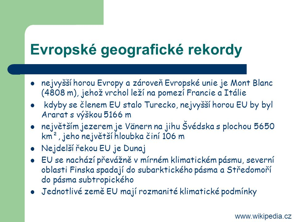 Evropské geografické rekordy