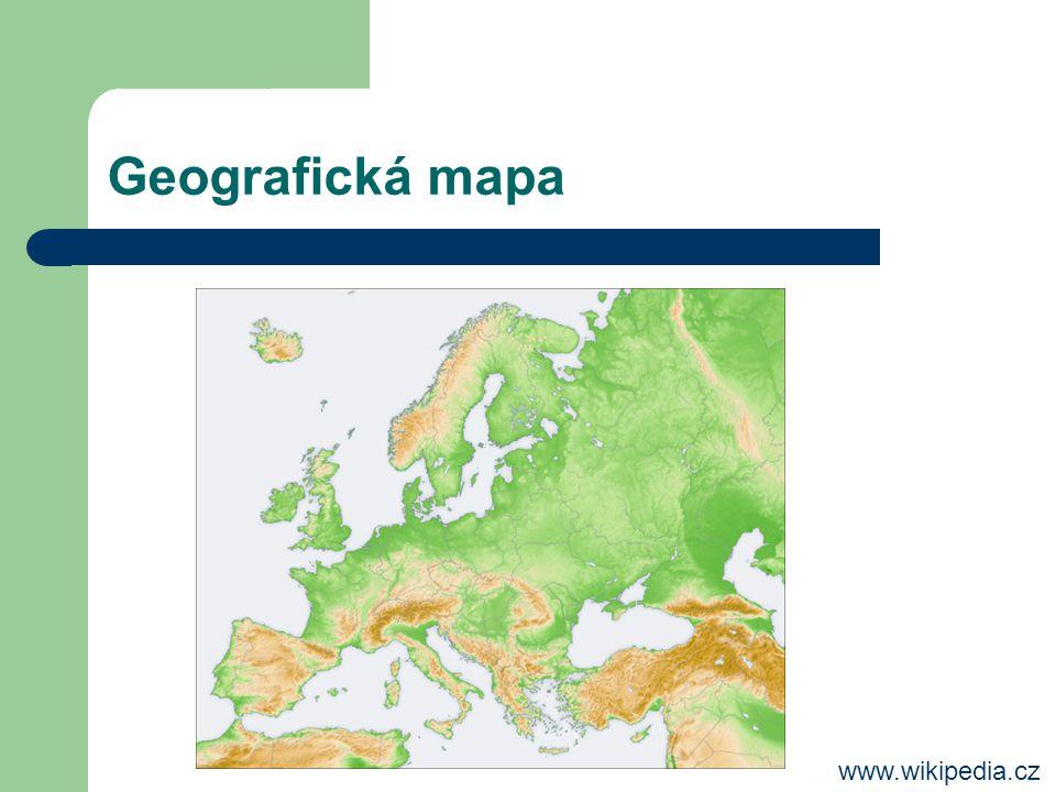 Geografická mapa www.wikipedia.cz