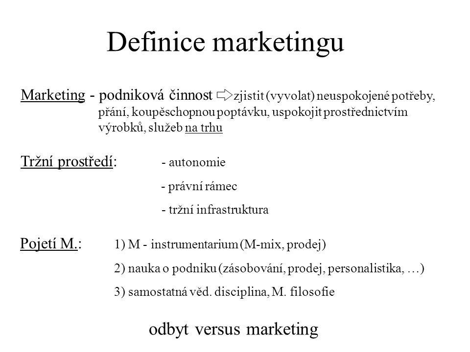 odbyt versus marketing
