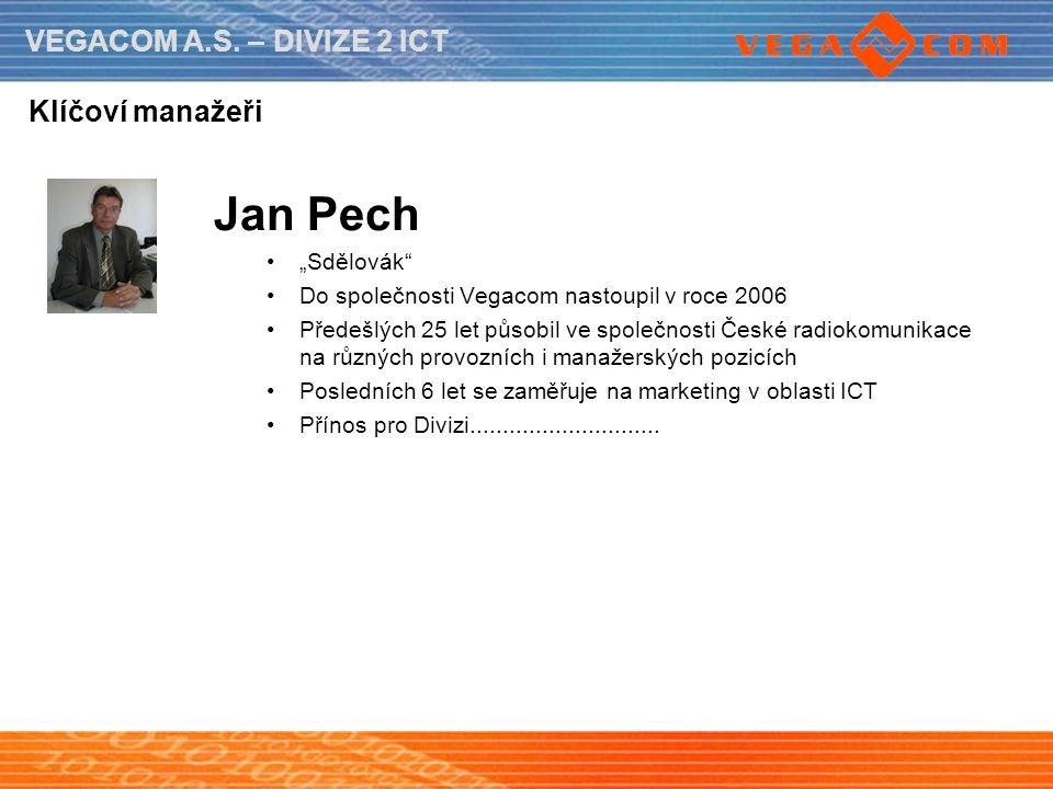 """Jan Pech Klíčoví manažeři """"Sdělovák"""