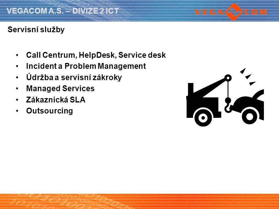 Servisní služby Call Centrum, HelpDesk, Service desk. Incident a Problem Management. Údržba a servisní zákroky.