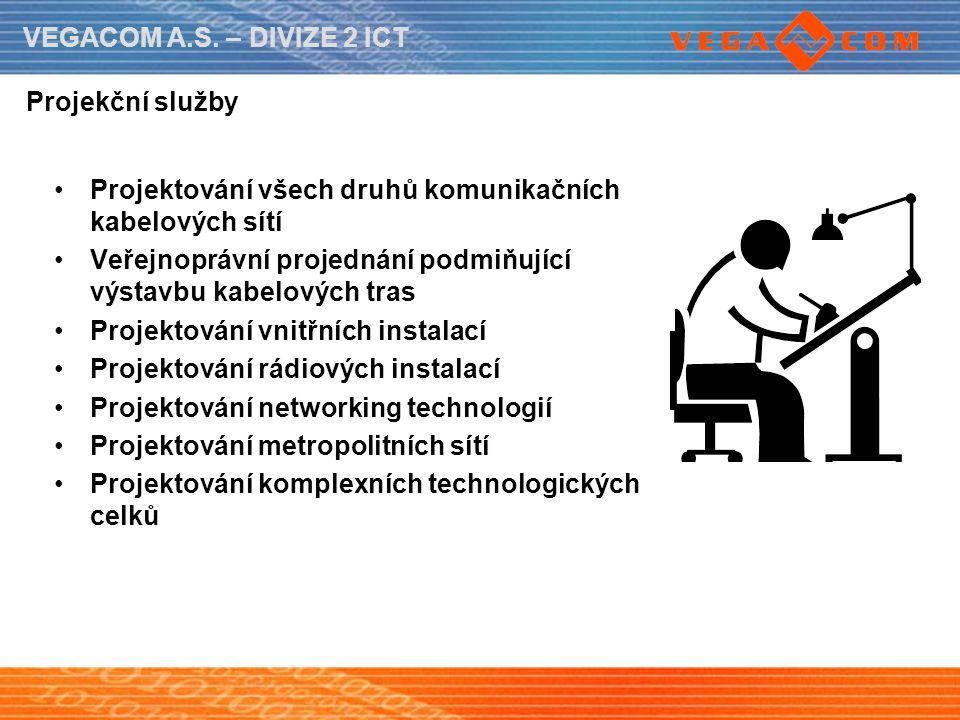 Projekční služby Projektování všech druhů komunikačních kabelových sítí. Veřejnoprávní projednání podmiňující výstavbu kabelových tras.